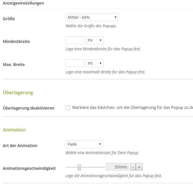 popup erstellen mit popup Maker in Wordpress