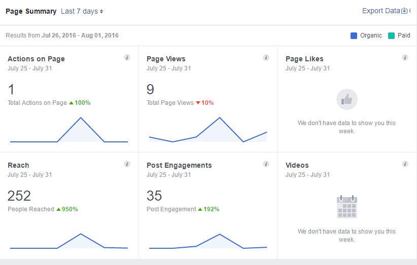 Facebook Fanpage Audience Insights Menü