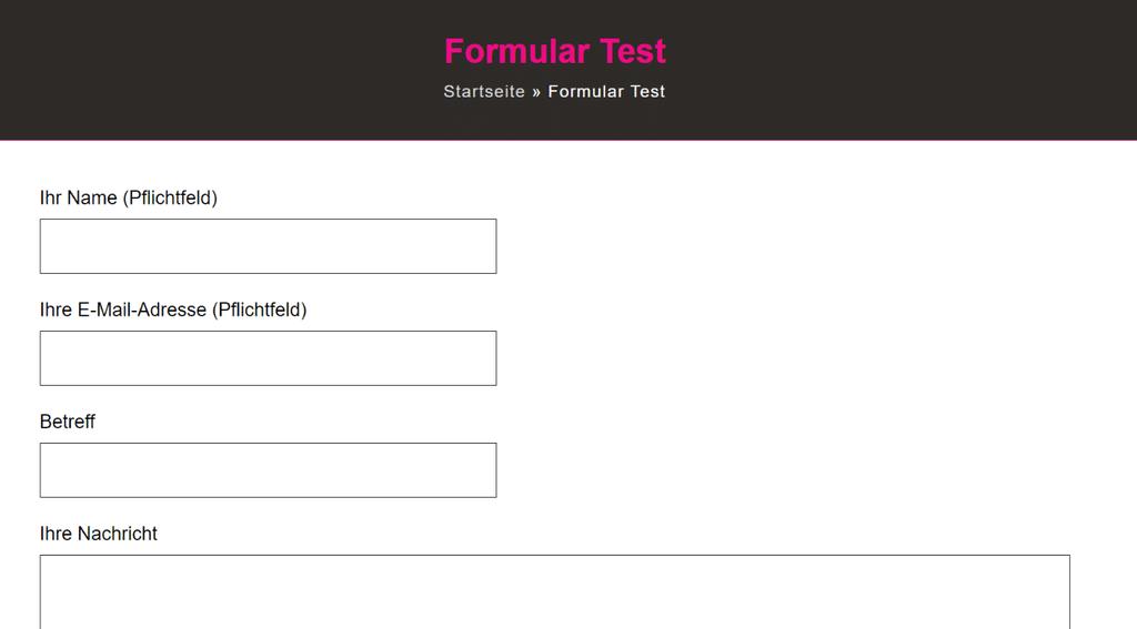 Formular Test