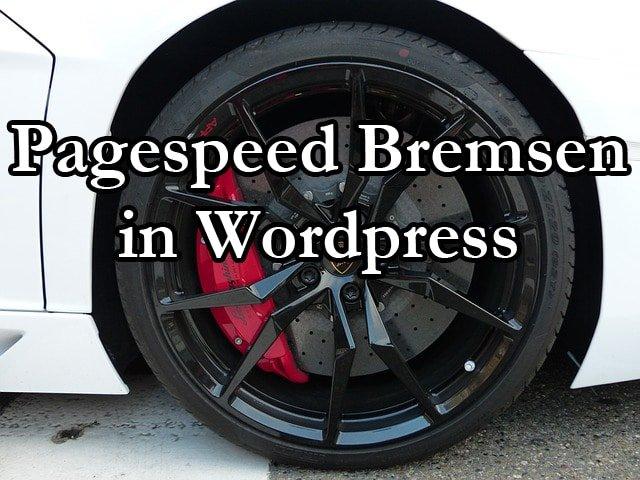 Pagespeed Bremsen in Wordpress