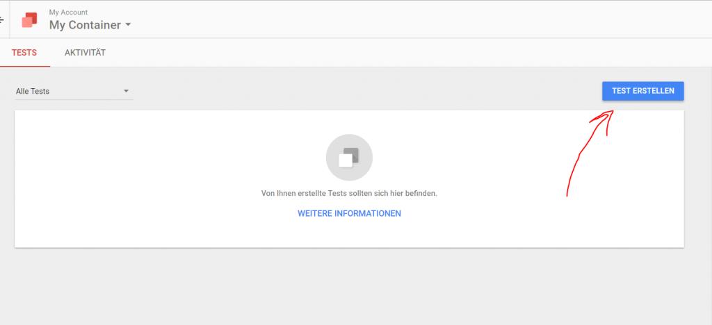 Erster Test Google Optimize