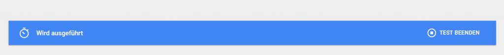 Teststatus Google Optimize