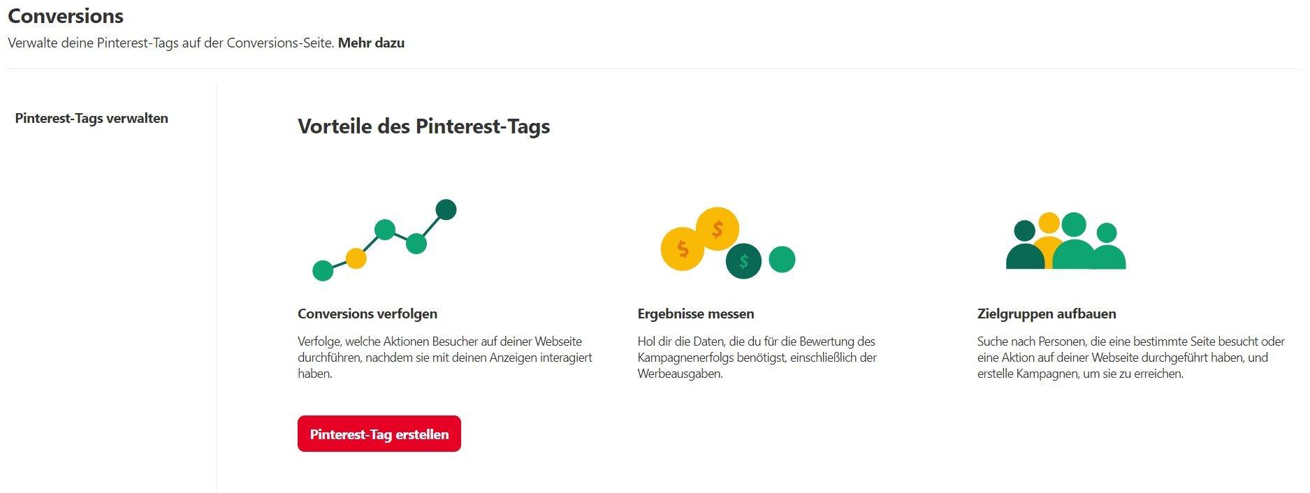 Webtracking Pinterest einrichten